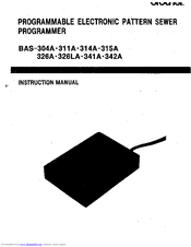 Brother bas 342A Instruction Manual
