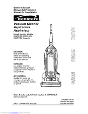 Kenmore 216.37105 Owner's Manual
