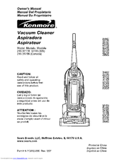 Kenmore 216.37115 Owner's Manual