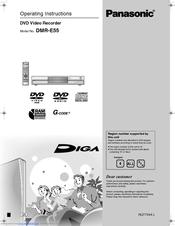 panasonic dmr e55 diga manuals rh manualslib com Panasonic DVD Recorder DMR E65 Panasonic DVD VHS Recorder Manual