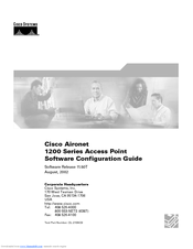 Cisco Aironet 1200 Series Manuals