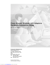 Cisco Aironet 340 Series Hardware Installation Manual