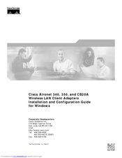 Cisco Aironet 350 Series Installation And Configuration Manual