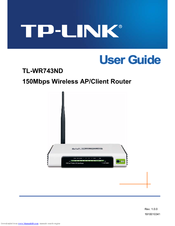 Tp-link tl-wr743nd | user guide.