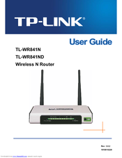 Tp-link TL-WR841ND - Wireless N Router Atheros 2T2R 2 4GHz 802 11n