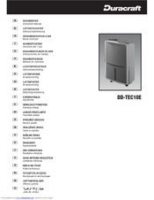 duracraft dd tec10e manuals rh manualslib com Duracraft Fan Oscillating Stand Fan Duracraft Box Fan 10 Inch