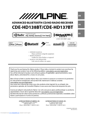 cde hd137bt manual