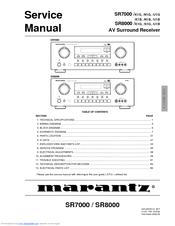 marantz sr8000 service manual pdf download rh manualslib com  Marantz AV7701