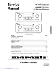 Marantz SR7000 Service Manual