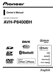 Pioneer AVH-P8400BH Owner's Manual
