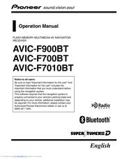 pioneer f900bt avic navigation system manuals rh manualslib com Pioneer AVIC-U310BT Map Update Pioneer AVIC-U310BT Map Update