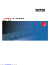 lenovo l2240p thinkvision 22 lcd monitor manuals rh manualslib com Lenovo ThinkPad Lenovo Keyboard User Guide