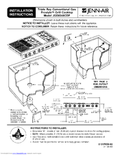 Jenn Air MGC5430BDB   30 Inch Gas Cooktop Installation Instructions Manual