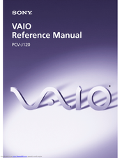 Sony PCV-J120 - Vaio Desktop Computer Reference Manual
