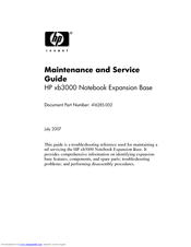 Hp xb3000 notebook expansion base docking station manuals.
