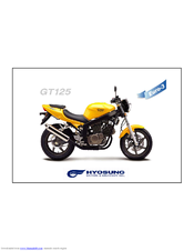 hyosung gt125 parts catalogue manuals rh manualslib com Hyosung 250 Hyosung 650