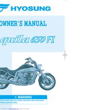 HYOSUNG GV 650 EFI OWNER'S MANUAL Pdf Download