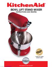 kitchenaid kv25g0xer instructions manual pdf download rh manualslib com KitchenAid Mixers On Sale Vintage KitchenAid Mixer