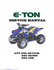 ETON ATV RXL 50 SERVICE MANUAL Pdf Download
