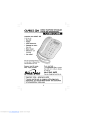 Binatone caprice 500 single corded phone | posot class.