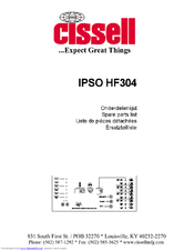 cissell ipso hf304 manuals rh manualslib com ipso operating manual Owner's Manual