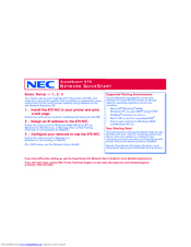 NEC 870 - SuperScript B/W Laser Printer Quick Start Manual