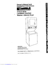 Kenmore 8875 - 24 in. Laundry Center Owner's Manual And Installation Instructions