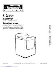 Kenmore Elite Oasis 110.7703 Series Use And Care Manual