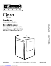 Kenmore Oasis Steam 110.7709 Series Use And Care Manual
