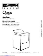 kenmore 7808 elite oasis st 7 6 cu ft capacity gas dryer manuals rh manualslib com kenmore gas dryer troubleshooting kenmore gas dryer manual