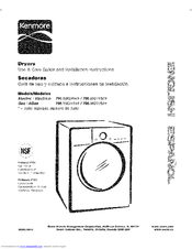 Kenmore 796.8002#9 Series Use And Care Manual