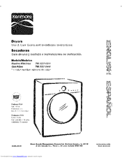 Kenmore 796.9031#9 Series Use And Care Manual