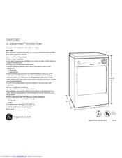 ge spacemaker dskp333ecww manuals rh manualslib com ge spacemaker stackable washer dryer manual ge spacemaker dryer parts
