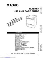 asko w620 manuals rh manualslib com Repair Manuals HP Owner Manuals