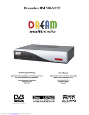Dream Multimedia DREAMBOX DM 500-C Manuals