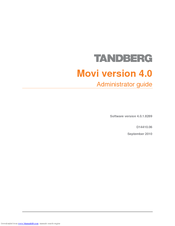 tandberg movi 4 0 manuals rh manualslib com Tandberg Seleco Manual Tandberg 2025