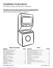 frigidaire gleh1642fs 3 1 cu ft laundry center manuals rh manualslib com manual for frigidaire washer and dryer gallery series owners manual frigidaire washer