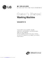 lg wm2487hrm manuals rh manualslib com LG WM2487HRM Manual Model LG Tromm WM2487HRM Parts