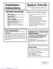 Frigidaire FFMO1611LB Installation Instructions