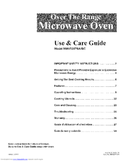 Maytag MMV5207BAQ - 2.0 cu. Ft. Microwave Use & Care Manual