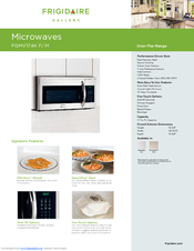 Frigidaire FGMV174KF - Gallery 1.7 cu. Ft. Microwave Specifications