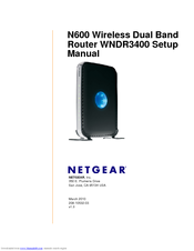 netgear wndr3400 n600 wireless dual band router setup manual pdf rh manualslib com netgear router wndr3700 firmware upgrade netgear router wndr3700 firmware