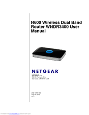 NETGEAR WNDR3400 - N600 WIRELESS DUAL BAND ROUTER USER