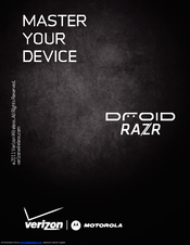 Motorola DROID RAZR by MOTOROLA Master Manual