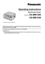 Panasonic KX-MB1520 Operating Instructions Manual