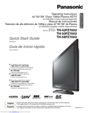 panasonic th 42pz700u 42 plasma tv manuals rh manualslib com