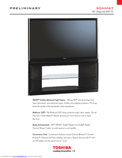toshiba 50hm67 50 rear projection tv manuals rh manualslib com Toshiba 55HT1U Manual Toshiba TV Owners Manual