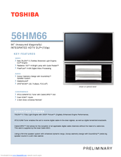 toshiba theaterwide 56hm66 manuals rh manualslib com Specs Toshiba 56HM66 Weight of Toshiba 56HM66