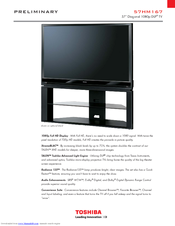 toshiba 57hm167 57 rear projection tv manuals rh manualslib com Toshiba TV Service Manual Toshiba TV Service Manual