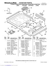 KitchenAid KESA907PSS   ARCHITECT Series: 30u0027u0027 Slide In Electric Range  Parts List (9 Pages)